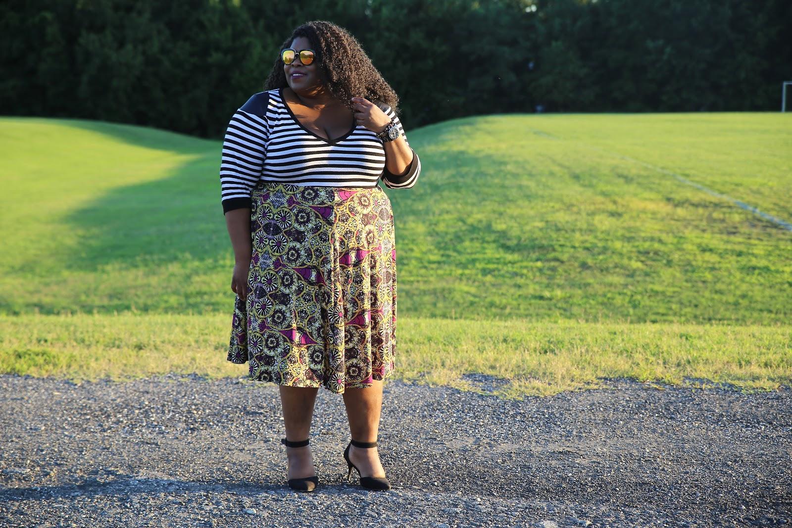 dc plus size blogger plus size style