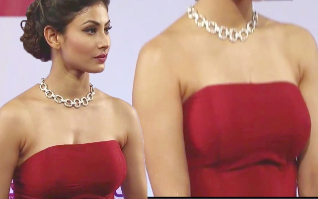 celebrity pics: mouni roy nipple visible
