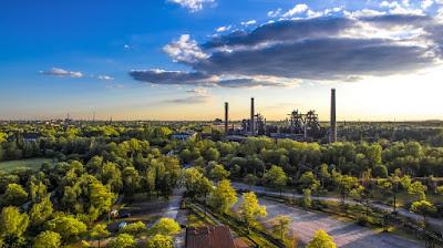 North Park-Duisburg-Germania-area della Ruhr-periferia-verde