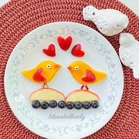Mango Birds Fruit Art