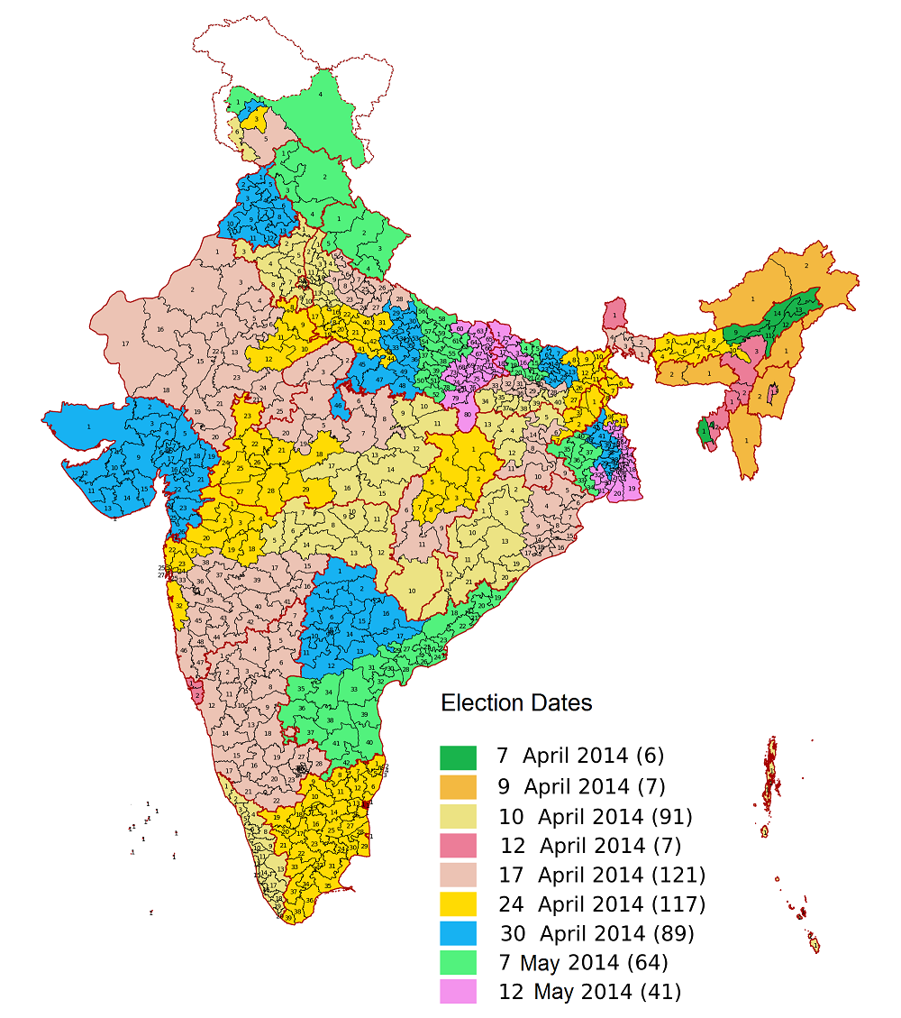 India General Elections 2014 - Election Dates