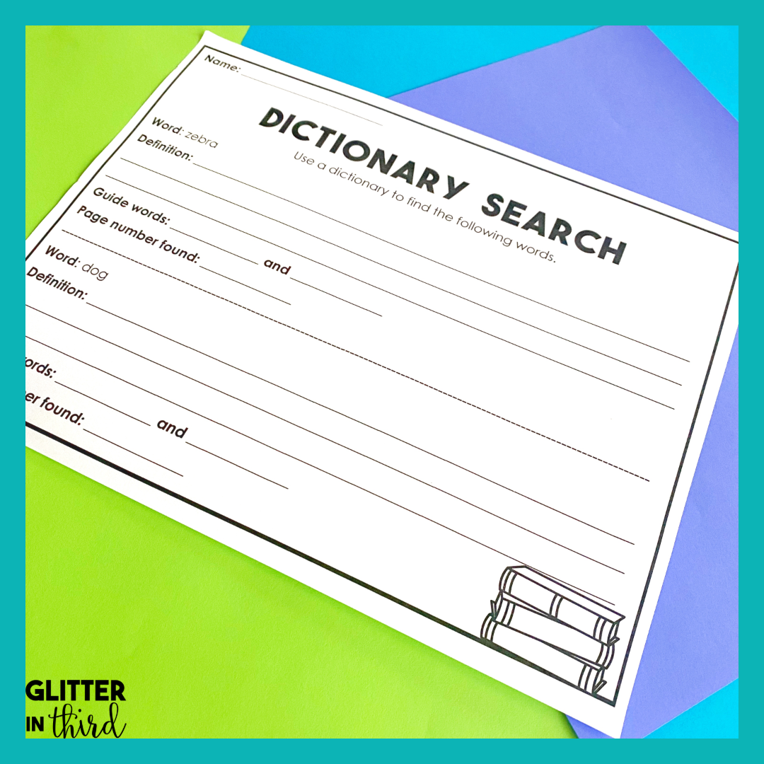 small resolution of How to Conquer Teaching Dictionary Skills - Glitter in Third