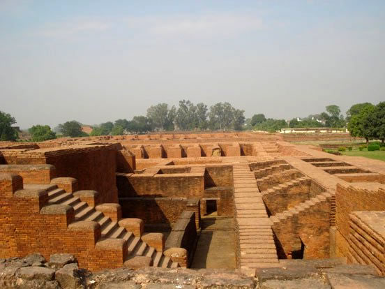 Another view of Nalanda's ruins