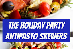 Holiday Party Antipasto Skewers Recipe #partyfood #holidayrecipes #holiday #appetizer #antipasto #skewers