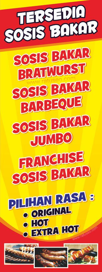 Spanduk X Banner Sosis Bakar