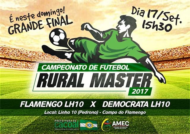 Final do Rural Master de futebol acontece neste sábado