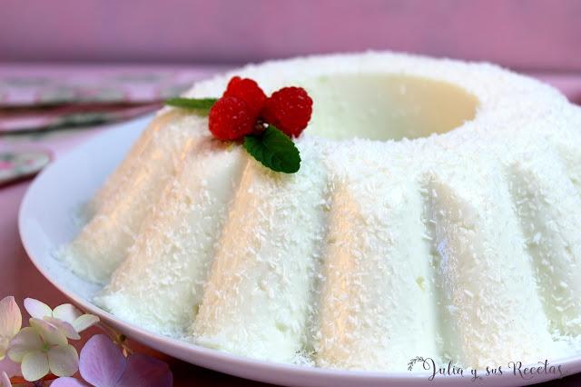 Pudin de leche de coco sin horno. JUlia y sus recetas