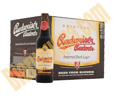 Thùng bia chai Budweiser Budvar Dark