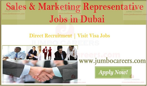 Jobs in Dubai for visit visa candidates, Urgent sales jobs in Dubai,