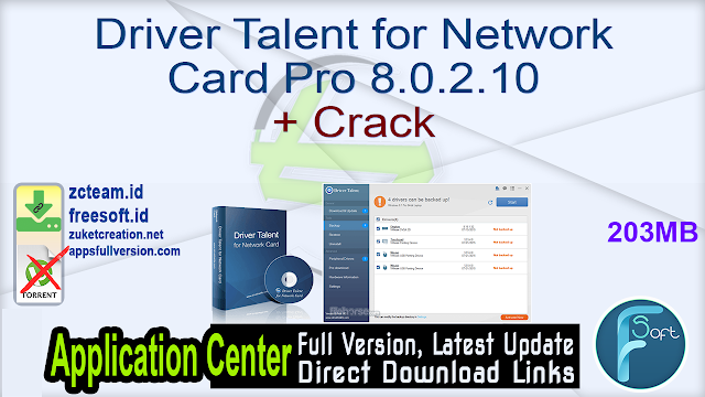 Driver Talent for Network Card Pro 8.0.2.10 + Crack_ ZcTeam.id