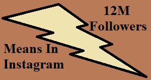 12M Followers Meaning in Instagram