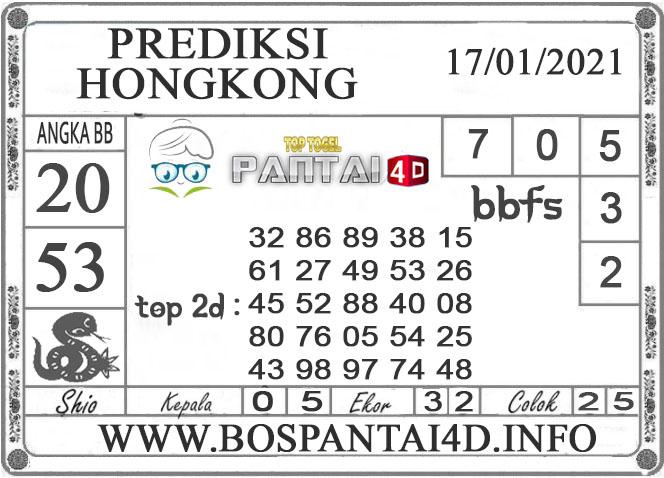 PREDIKSI TOGEL HONGKONG PANTAI4D 17 JANUARI 2021