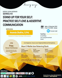 "Dering Senja Adakan Webinar Series #2, ""Practice Self Love & Assertive Communication"""