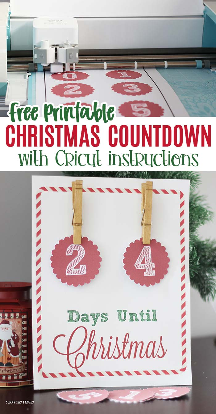 Free Christmas Countdown Printable Sign | Sunny Day Family