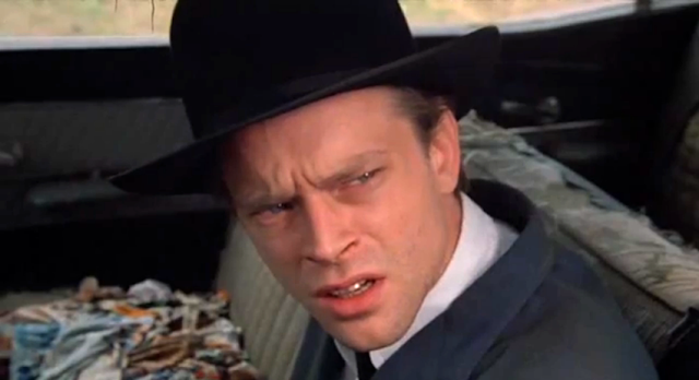 Brad Dourif as Hazel Motes in John Huston's Wild Blood. Photographer unknown.