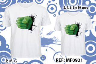 Tal Pai Tal Filho Camisetas Personalizadas Hulk