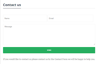 Contact form code for blogger