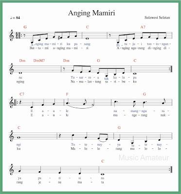 not balok lagu anging mamiri