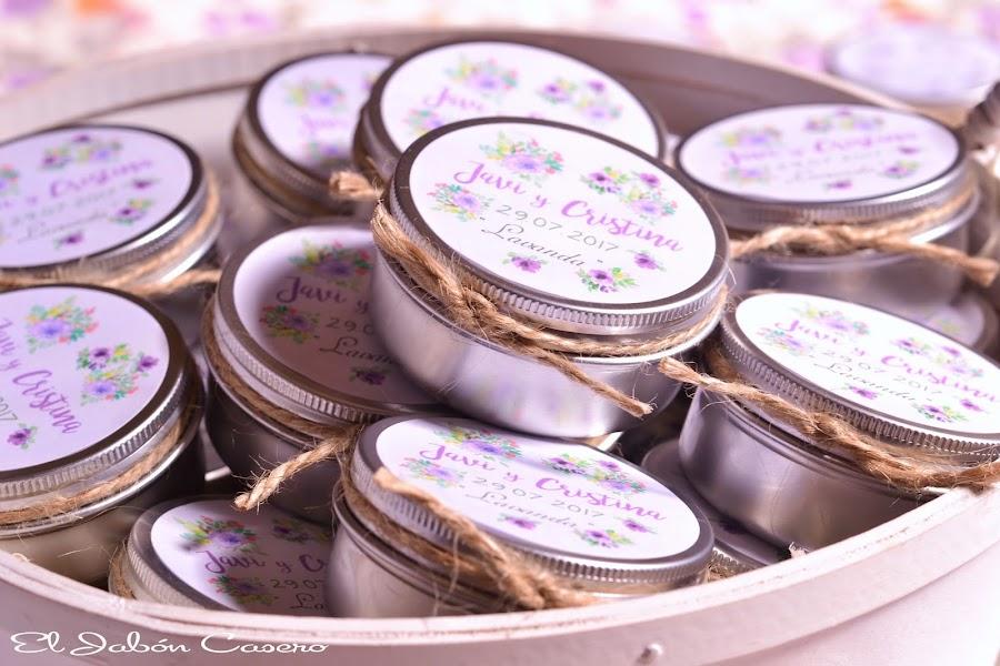 Detalles para invitados bodas velas aromaticas personalizadas