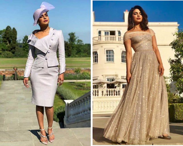 Priyanka Chopra Dior Dress at evening reception at Royal Wedding