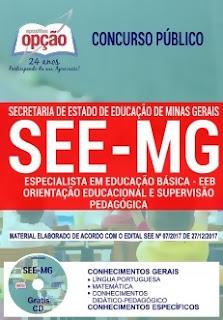Apostila SEE-MG 2018 Especialista em Educação Básica