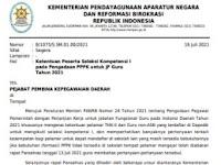 Hasil Ketentuan Peserta Seleksi Kompetensi I Pengadaan PPPK JF Guru 2021, Terbaru