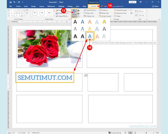 cara membuat buletin dengan word