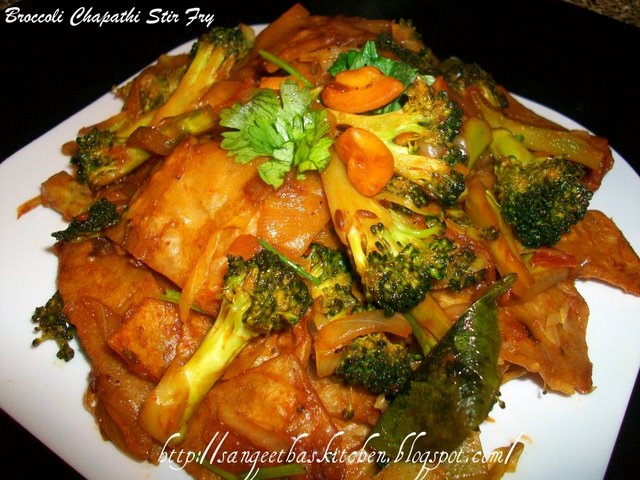 Spicy Treats Broccoli Chapathi Stir Fry