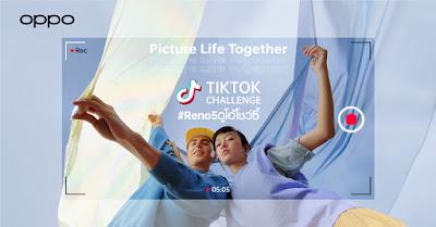 """OPPO ชวนครีเอทท่าเต้นเป็นคู่ ใน TikTok Challenge #Reno5ดูโอ้โชว์ซี้  ลุ้นรับ """"OPPO Reno5"""" ที่สุดของวิดีโอ Portrait เริ่มแล้ววันนี้ - 5 ก.พ.เท่านั้น!"""