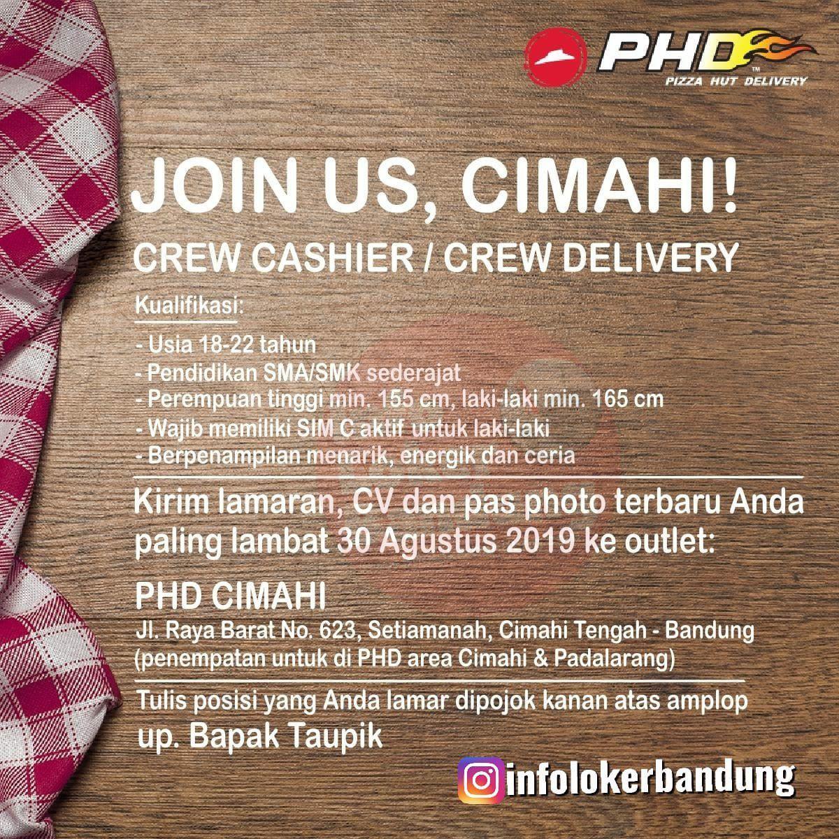 Lowongan Kerja Pizza Hut Delivery (PHD) Cimahi Agustus 2019
