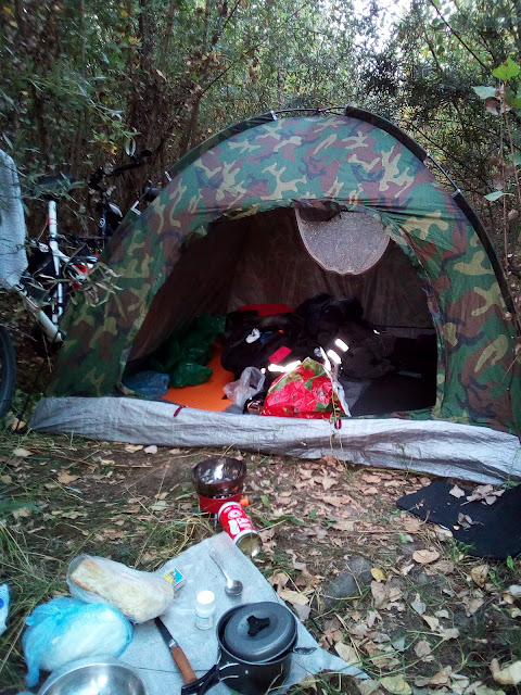 палатка и ужин
