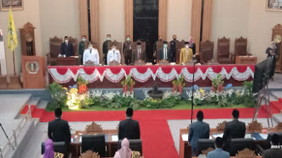 Dewan Perwakilan Rakyat Daerah (DPRD) Kabupaten Lampung Menggelar Rapat Paripurna