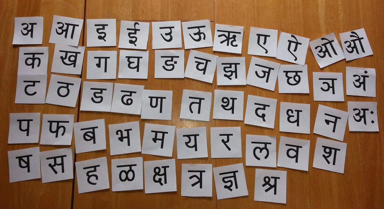 Marathi Alphabets | Holidays OO