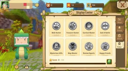 Có nhiều loài huy hiệu trong Mini World