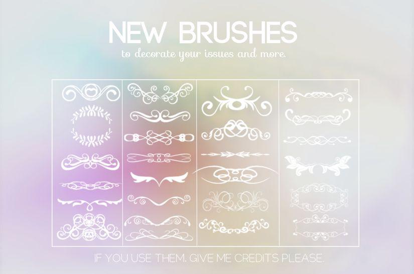 مجموعة جديدة من فرش الفواصل الزخرفية - Classic Dividers Brushes 2