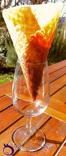 Un exemple de cornet de glace formé
