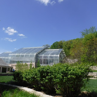 glass conservatory at Lauritzen Gardens in Omaha