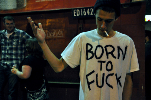 """""""BORN TO FUCK"""" T-Shirt as worn by nobody knows who the fuck he is!?!  PYGEAR.COM"""