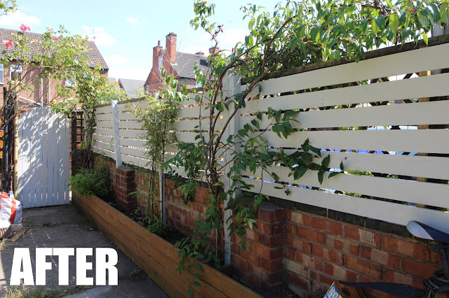 garden fencing before and after
