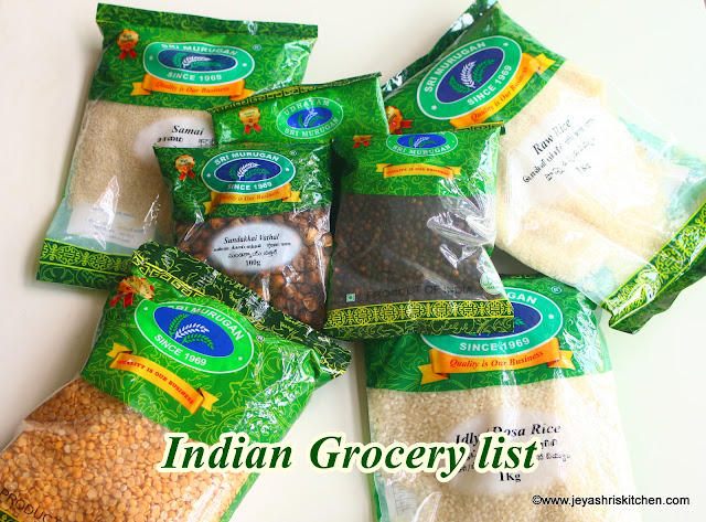 Indian grocery list planner