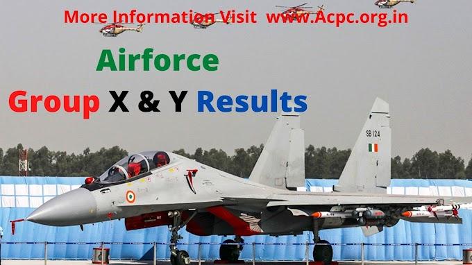 Indian Air Force Group X Y Result 2021{एयर फोर्स ग्रुप एक्स और वाई रिजल्ट}