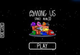 Jogo grátis Among Us Space Run Online
