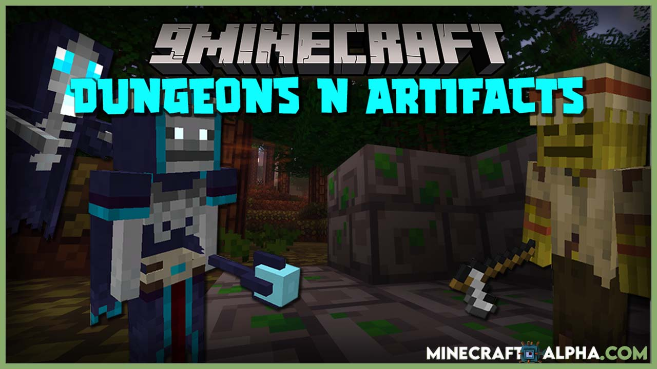 Minecraft Dungeons and Artifacts Mod 1.16.5 (Dungeons, Biomes, Entities)