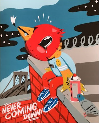 Never Coming Down! Screen Print by Sentrock x Galerie F