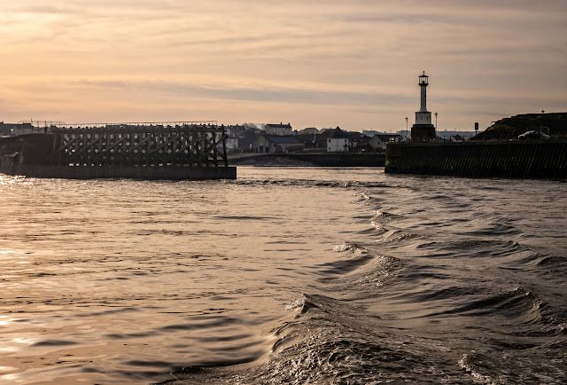 Photo of looking back at Maryport lighthouse as we headed out onto the Solway Firth