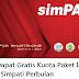 Cara Mendapatkan Gratis Kuota Paket Internet 13 GB Simpati Perbulan