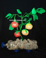 Ide kreatif kerajinan tangan bunga bonsai dari bahan limbah plastik