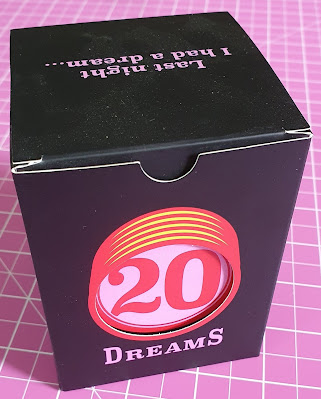 20 Dreams Family card game boxed. Plain dark box with large 20 in figures