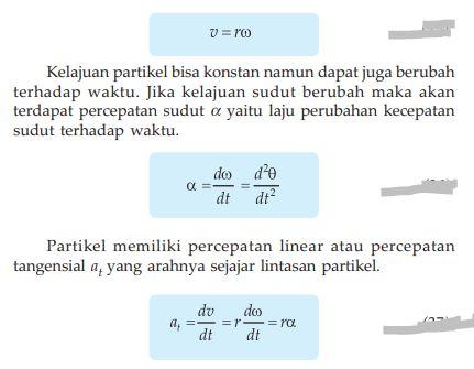 Hubungan antara kecepatan sudut dan kecepatan linear