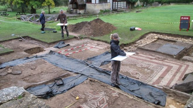 Chedworth Roman Villa's new dig gets under way